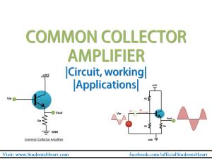 common Collector amplifier tutorial
