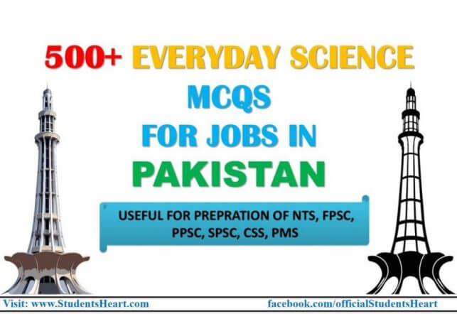 Everyday Science Mcqs for Jobs in Pakistan