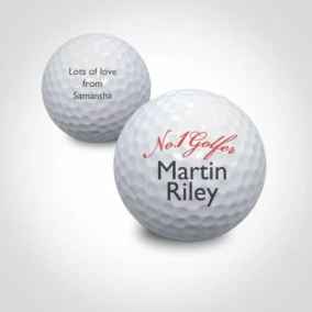 Personalised NO1 Golfer Golf Ball - Menkind