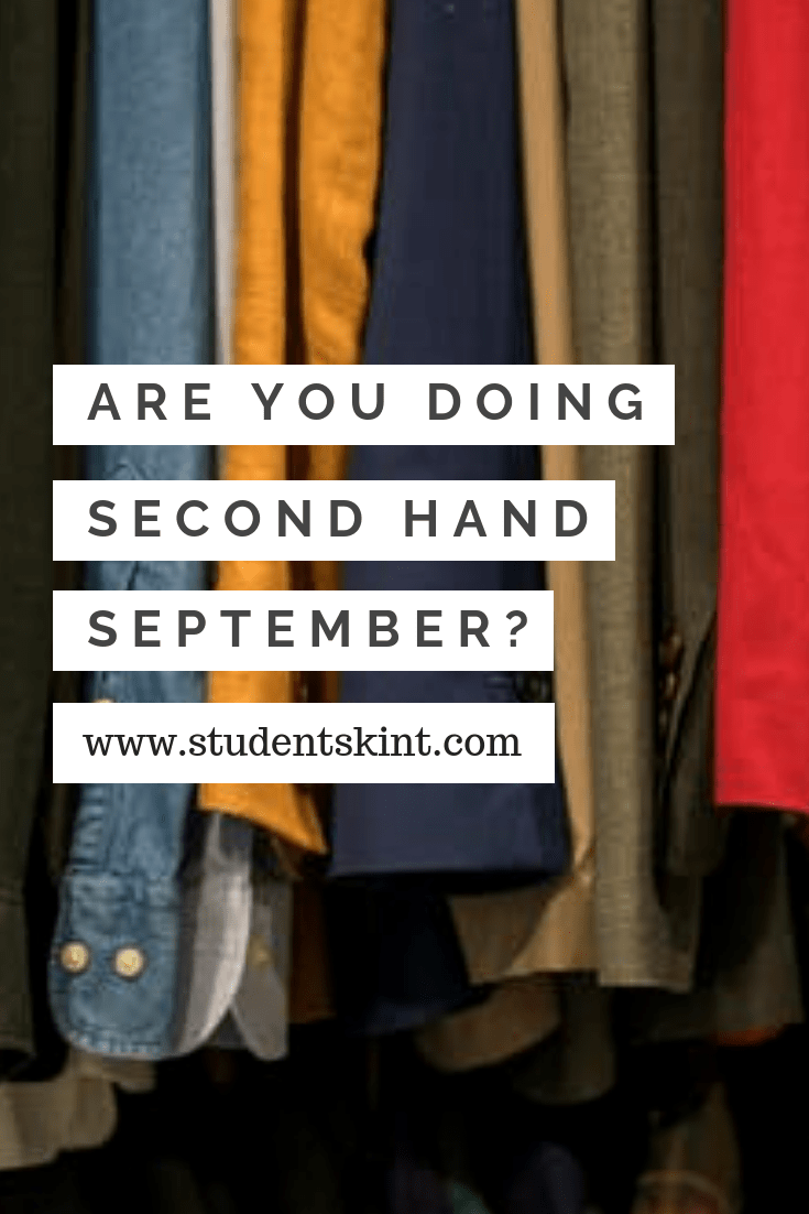 Are you doing Second Hand September?