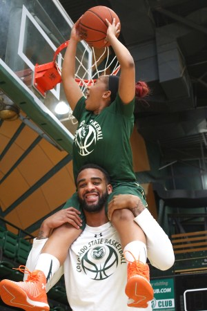 CSU Basketball Stars Newton, Kidd Form Unbreakable Bond Outside The Lines | Photos By Abbie Parr