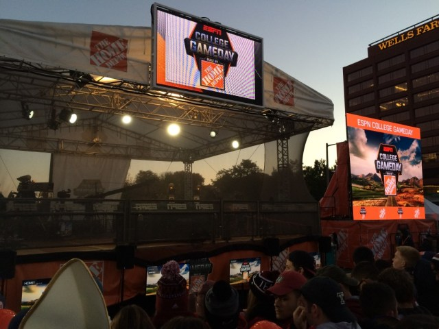 "ESPN's College Gameday brought a festive atmosphere to ""The City of Brotherly Love"" early on Saturday morning. Photo by Erik Oakley"