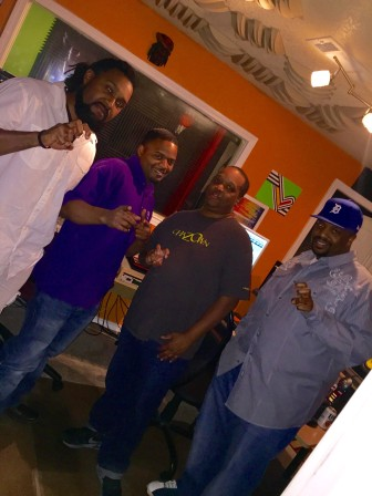 Them T.C.U. Boys at Global 1 Entertainment recording some new music.