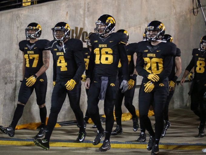 cb6a3d6ed The 2015 Blackout uniforms that Iowa wore against Minnesota. I never  thought I would see the day