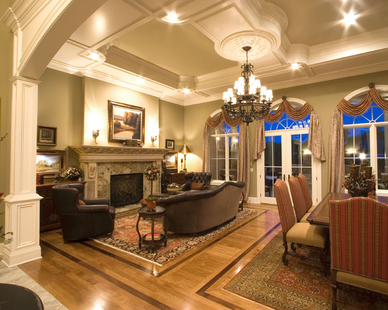 Custom Great Room Photographs Drawn By Studer Residential