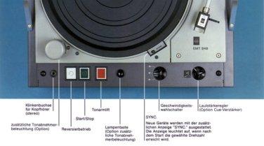 Bei der Konzeption des Stations-Plattenspielers EMT 948 wurde großer Wert auf den Einbau weniger Tasten und Schalter gelegt, um die Bedienung einfach und sicher zu machen.