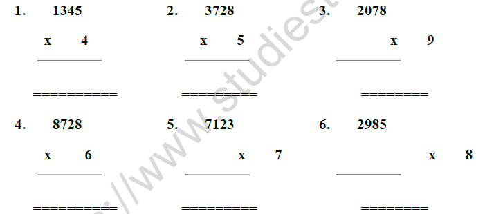 CBSE Class 3 Mathematics Math Magic MCQs, Multiple Choice
