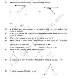 CBSE Class 5 Mental Maths Geometrical Figures Worksheet [ 1200 x 1057 Pixel ]
