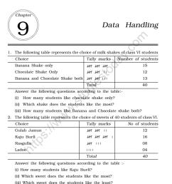 CBSE Class 6 Mental Maths Data Handling Worksheet [ 1200 x 1004 Pixel ]
