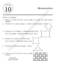 CBSE Class 6 Mental Maths Mensuration Worksheet [ 1200 x 1004 Pixel ]