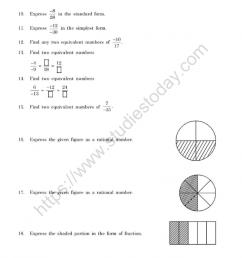 CBSE Class 7 Mental Maths Rational Numbers Worksheet [ 1200 x 1050 Pixel ]