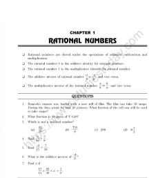 CBSE Class 8 Mental Maths Rational Numbers Worksheet [ 1200 x 981 Pixel ]