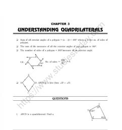 CBSE Class 8 Mental Maths Understanding Quadrilaterals Worksheet [ 1200 x 981 Pixel ]