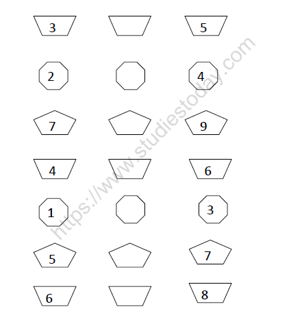 CBSE Class 1 Maths Numbers 1 To 9 Worksheet Set C Practice