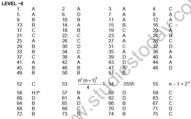 JEE Mathematics Sequence and Series MCQs Set A, Multiple