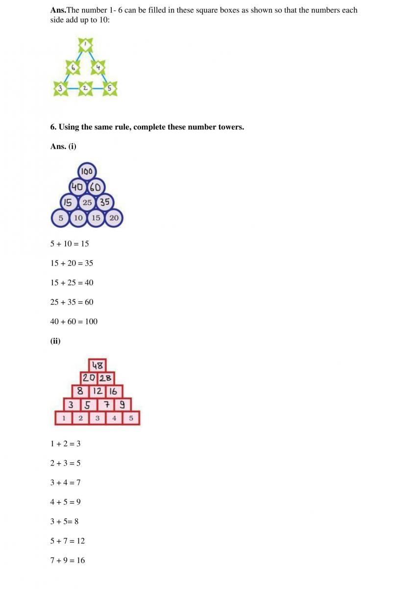 NCERT Solutions Class 4 Mathematics Chapter 10 Play With