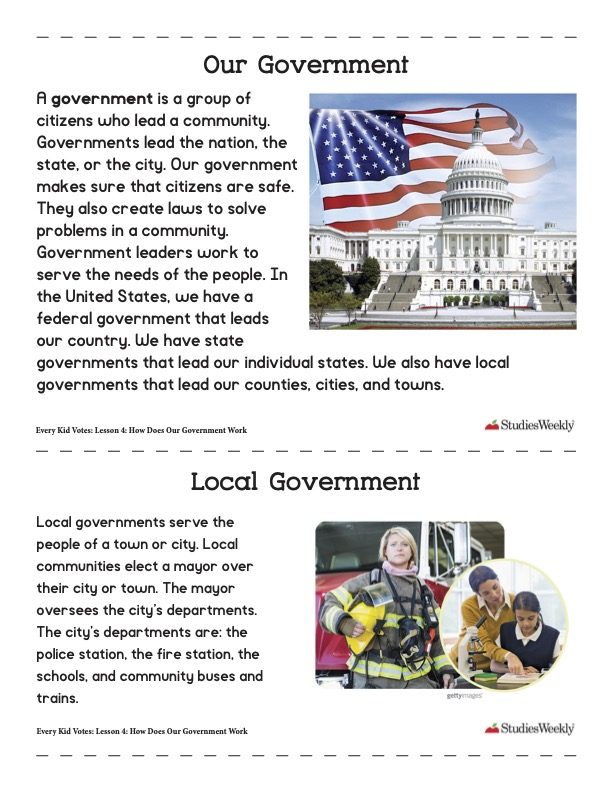 Our Government Studies Weekly Article