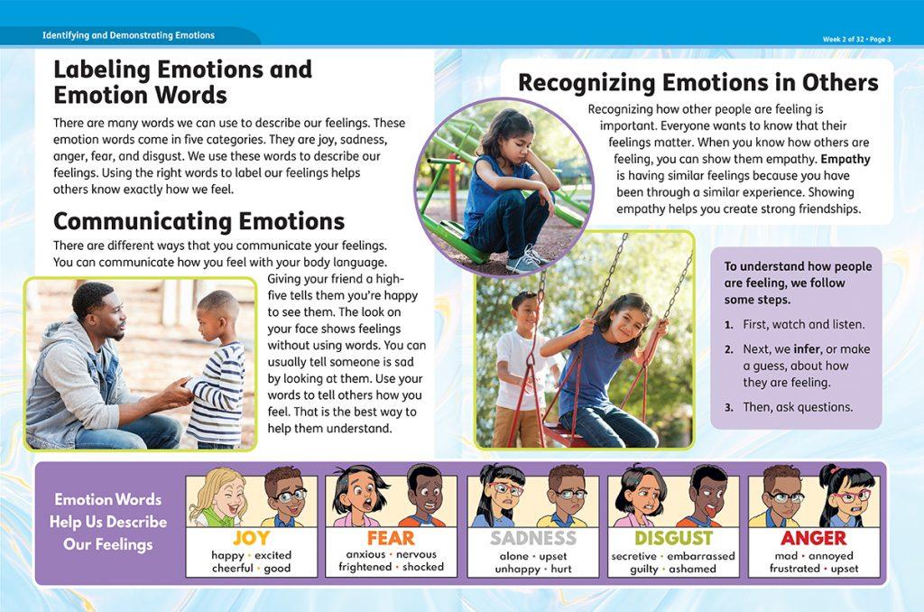 Studies Weekly Well-Being Curriculum Self-Regulating Emotions Article