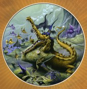 rodney_matthews_alice-in-wonderland_the-little-crocodile