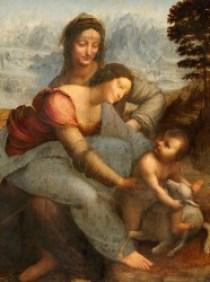 Léonard de Vinci, La Vierge, l'Enfant Jésus et sainte Anne 1503 - 1519, Huile sur bois, 168 x 130 cm Musée du Louvre, Paris