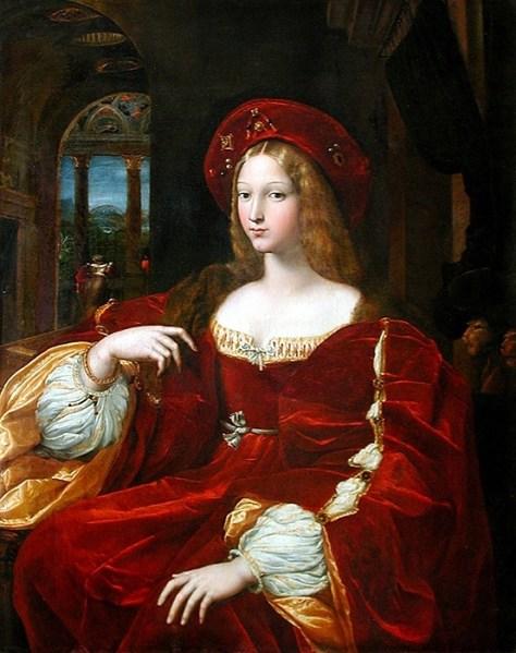 Raphaël, Portrait de Dona Isabel de Requesens, vice-reine de Naples (1509-1522), dit autrefois Portrait de Jeanne d'Aragon Vers 1518, Peinture à l'huile, 95 x 120 cm Louvre-Lens