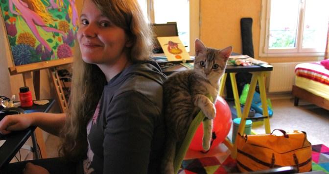 Shou' et son chat Yoshi