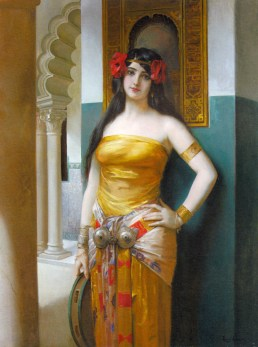 Léon-François Comerre - Une beauté arabe (An arab beauty)