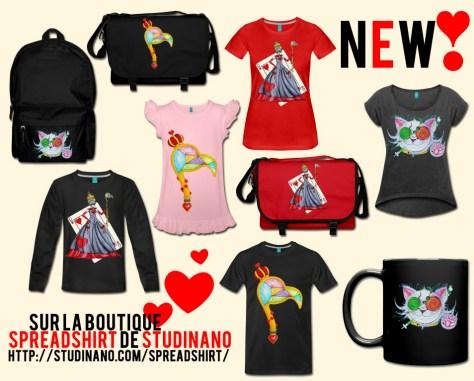 Des nouveautés sur la boutique Spreadshirt de Studinano ! On peut dire que j'y ai mis du cœur ;) https://www.studinano.com/spreadshirt/
