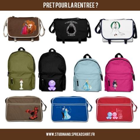 Optez pour un sac ou un cartable des plus originaux sur la boutique Spreadshirt de Studinano : http://studinano.spreadshirt.fr/ Votre bonheur n'est pas dans la boutique ? Vous pouvez aussi personnaliser vous-mêmes le sac ou l'accessoire de vos rêves, grâce au Designer : http://studinano-designer.spreadshirt.fr/