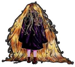 Faceless Girl au manteau Dessin, encre sur papier photo