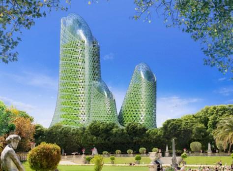 """Représentation en 3D pour le projet """"Paris Smart City 2050""""."""