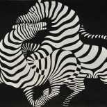 Victor Vasarely, Zebra, 1937. Woodcut print, 52 x 60 cm