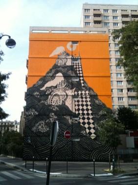 M-City, Titre inconnu Street art, 2010 122 boulevard de l'Hôpital Paris 13e (75)