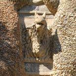 Palais idéal du Facteur Cheval, Hauterives, Drôme, France. Détail : La Loutre