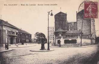 Fontaine Wallace, rue du Landy, Ecole Jean Jaurès, Clichy.