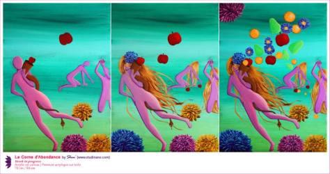 La Corne d'Abondance Peinture acrylique sur toile | Acrylic on canvas 70 cm x 50 cm