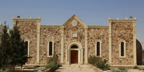 Le monastère de Mar Elian avant sa destruction par Daesh.