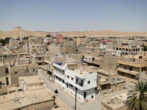 Vue de la ville de Tadmor, anciennement Palmyre, Syrie, 2010.