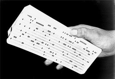 Exemple de carte perforée.