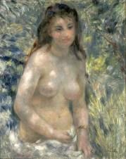 Etude. Torse, effet de soleil Pierre-Auguste Renoir (1841-1919) 1875-1876 Huile sur toile Paris, Musée d'Orsay Legs de Gustave Caillebotte, 1894