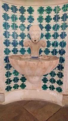Beaucoup de bassins et de fontaines trouvent leur place dans ce palais de Sintra.