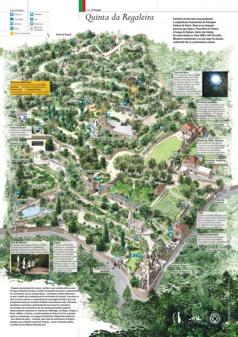 Carte de la Quinta da Regaleira.