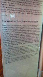 Cartel des Character Heads de Franz Xaver Messerschmitt au palais du Belvédère (Vienne).