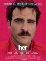 """Affiche du film de science-fiction """"Her"""" de 2014."""