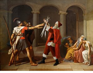 Ed Wheeler revisite une toile de Jacques-Louis David.