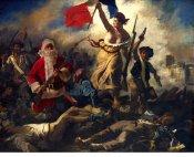 """Ed Wheeler revisite la célèbre toile de Delacroix, """"La Liberté guidant le peuple""""."""