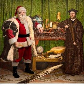 """Ed Wheeler revisite la célèbre toile """"Les Ambassadeurs"""" de Hans Holbein."""