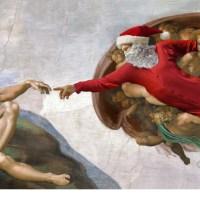 Le Père Noël voyage à travers l'Histoire de l'Art grâce à Ed Wheeler