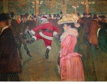 Ed Wheeler revisite une toile de Toulouse Lautrec.