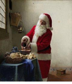 """Ed Wheeler revisite la célèbre toile """"La Laitière"""" de Vermeer."""